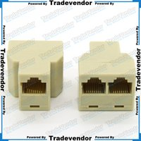 ethernet cable connector - RJ45 to LAN Ethernet Network Cable Splitter Extender Plug Adapter Connector