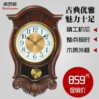 antique chime wall clock - 100 real picture Wellington upscale chime clock in the living room European style antique wall clock creative quartz table