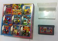 Wholesale High quality Multi game cards Super mario for GBA games save games in