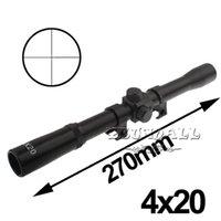 Cheap Rifle Scopes 4x20mm Rifle Crosshair Scope for 22 Caliber Rifles & Air Guns for Military 3pcs Good Quality NO.19 Free Shipping Precise