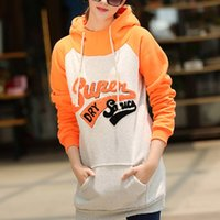 america funding - Vogue of new fund of winter in Europe and America the letters women hooded long sleeved casual fleece hoodies