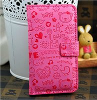 Cheap Case For Sony Xperia C CN3 S39h C2305 Case Flip PU Leather Case Magic Girl Cartoon Case Stand Style