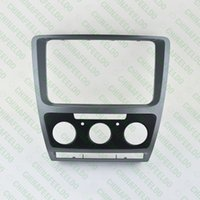 Wholesale Grey Car Radio Stereo DIN Fascia Panel Refitting Frame Facia Trim Install Mount Kit For Skoda Octavia Auto Manual A C