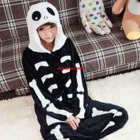 adult onsies - Fashion Women Pajamas Skull Skeleton Anime Adult Onesies Pyjamas Womens Onsies Clothing Winter Pijamas