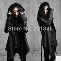 asymmetrical wool jacket - Fall Paragraph Gothic Dark nightclub Japanese men s jackets asymmetrical wool coat coat tide male