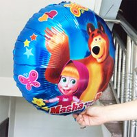 bear tales - Tale of Masha balloon Malla shape ballons quot Masha And Bear globos Martha foil baloon bear party
