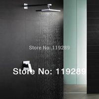 Wholesale Wall mounted Shower Set Concealed Shower Faucets inch rainfall square shower head Bath tap mixer chuveir SS