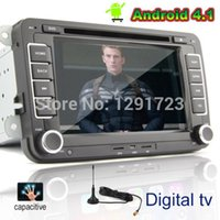 Wholesale Android VW Car Volkswagen DVD Player Digital TV Capacitive GPS FM Bluetooth ISDB T DVB T Capacitive Car PC stereo Radio Car DVD Video Pl