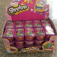 Wholesale new arrive Shopkins Season two Shopkins in a Basket FACTORY SEALED BLIND SHOPPING BAG BASKET Mini Figures Pack of Shopkins D259