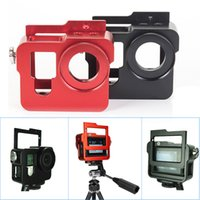 aluminum section frames - Black Red A Section Housing Shell CNC Aluminum Alloy Rig Protective Case Frame For GoPro HD Hero