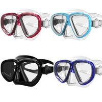 Wholesale Brand Professional Silicone Gear Scuba Diving Mask Equipment Snorkel Buceo Anti Fog UV Waterproof Swim Dive Glasses Men Women