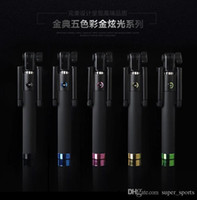 Wholesale 2015 New Foldable Wireless Bluetooth Build in Monopod Self Photo Selfie Stick for IOS Android Smart Phone sets