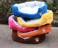 Wholesale S Size New Pet Dog Puppy Cat Soft Fleece Warm Bed House Plush Cozy Nest Mat Pad