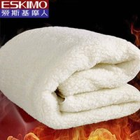 Wholesale ESKIMO Hot Wool Mattress Warm Autumn and Winter White Bed Mat Twin Queen King size Free Shiping