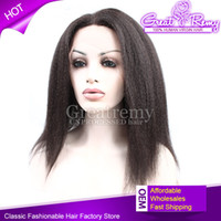 kinky straight lace wigs - glueless full lace wigs Kinky straight hair virgin human hair lace wig density wigs for black women lasting long time