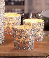 cake candle - Hot Sale Silver quot FT Yards Rows Sunflower Diamond Mesh Bling Crystal Ribbon Wrap Trim Wedding Cake Candle Decor