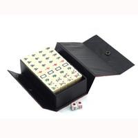 Wholesale M002 mm Mini Mahjong Mah jong Mah jongg Mah jong Games Carved Tile in case with Melamine tiles