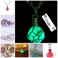 flashing christmas jewelry - 2014 colors LED FLASH NEW crystal necklace Pearl jewelry Novelty gift concert d night light ornaments christmas party topB814