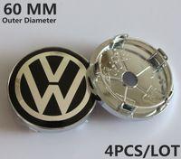 Wholesale 60MM VW Sticker Emblema Wheel Cover Center Cap Wheel Hub Cap Volkswagen Centro Rodas Centre Enjoliveur Roue Coprimozzo Copertura