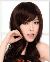 beautiful female bodies - Hair Wigs Long curly hair wig fashion beautiful female wig oblique bangs fluffy wig hair wig whole
