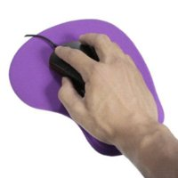 Wholesale Silicone Comfortable Wrist Pillow Mouse Mice Pad With Wrist Rest Support Purple Red mouse pad laser