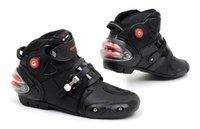 Wholesale Professional motorcycle boots men motorbiker boots botas motorcycles moto shoes racing pro biker Size black