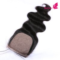 Cheap Malaysian Hair Silk Base Closure Bleached Knots Best Natural Color Body Wave Swiss Lace Closure