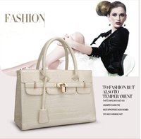 designer crocodile handbags - 2015 Hotsale Famous Brand Crocodile Ladies Handbags Shoulder Bag European Style Tote Clutch Bags Fake Designer Handbags