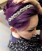 hair accessories for women - Hot Selling Beaded Jewelry Rhinestone Headband For Women Glamorous Vintage Korea Shining Hair Accessories Drop Shipping