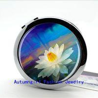 art nouveau mirror - New Arrival Lotus Pocket Mirror Art Nouveau Fairy Photo Mirror Personalized Compact Mirror