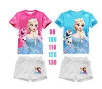 Cheap Frozen ice queen Anna Aisha white primer Women T shirt cosplay costume For Children