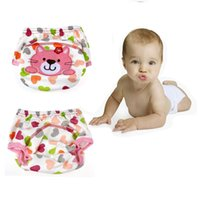 baby bear diapers - Baby Infant Cartoon Cloth Diapers Reusable Washable Leakproof Nappy Diaper
