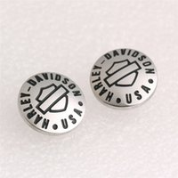 Wholesale 2pairs new arrival biker style popular cool earrings L stainless steel band party fashion jewelry hot selling biker earrings