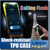 airs phone cover - For iPhone plus Soft TPU calling flash Phone Case Shock resisdant Transparent Protective Air Cushion Drop Airbag Cover Sleeve