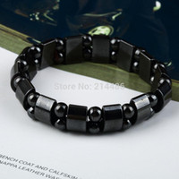 magnetic hematite - 10pcs Fashion Black Magnetic Hematite Therapy Arthritis Beads Bracelet for men women