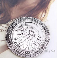 Wholesale Targaryen Dragon Badge Brooches Pins From Game of Thrones Antique Silver new arrival B9