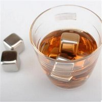 Wholesale Bar Use Stainless Steel Ice Cubes Whisky Stones Glacire Cooler For Whisky Wine Beer Metal Ice Cubes High Quality bz678851