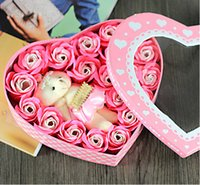 Wholesale 20 Winnie rose soap flower hearted shaped Valentine s Day Gift Mother s Day birthday gift of Flower preservation Preserved flower