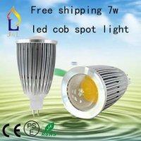 Wholesale Fedex lotGU10 W High power COB led lights bulb lamp led spotlights V V