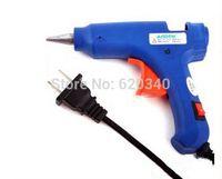 Wholesale W V Blue Electric Heating Hot Melt Glue Gun Crafts Repair Tool Professional Glue Sticks High Quality order lt no