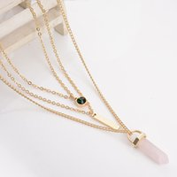 Cheap Pendant Necklaces multi layer necklace Best fashion Women's pink necklace