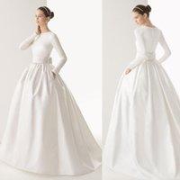 islamic wedding dress - 2015 Muslim Wedding Dresses Long Sleeves Plus Size Big Bow Islamic Arabic Wedding Gowns Vestido De Noiva Manga Longa arabic dresses