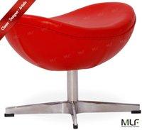 arne jacobsen egg - MLF Arne Jacobsen Egg Chair Ottoman Top Grain Aniline Leather Hand Sewing Adjustable Tilt High Density Foam Swivel