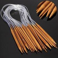 Wholesale Bamboo Carbonize Circular Knitting Needles Pins Sewing Tools cm Size mm mm Set