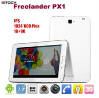 Wholesale 7 inch Freelander PX1C G phone call Tablet PC GB GB IPS MTK8382 Quad Core Ghz Android GPS Dual Sim Dual Camera MP phablet