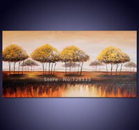 africa art work - hand painted Canvas Wall Art Acrylic Abstract Africa Landscape Tree Oil Painting Home Decoration Modern Tree Art work