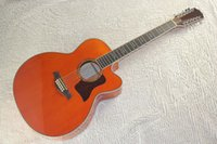 Wholesale HOT Classic Musical instruments Solid wood12 Strings Chaylor ce Jumbo orange Acoustic Guitar