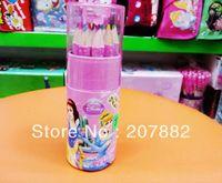Wholesale Sets Princess Children Colored Pencil Cartoon Colors Pencil Stationery Set A2642
