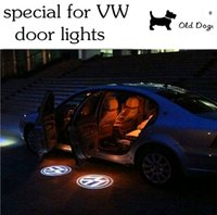 Wholesale LED Door Warning Light With Volkswagen Logo Projector For VW Logo Shadow Light For Golf MK4 Touran Caddy