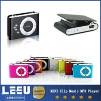 Wholesale Colorful MINI Clip Music MP3 Player Support Micro SD TF Earphone USB Cable with Gift box MP3 Players
